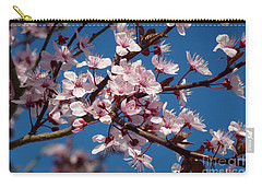 Carry-all Pouch featuring the photograph Flowering Of The Plum Tree 5 by Jean Bernard Roussilhe