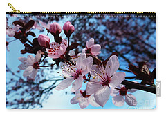 Carry-all Pouch featuring the photograph Flowering Of The Plum Tree 6 by Jean Bernard Roussilhe