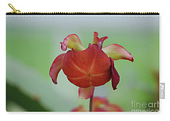 Flowering Red Adam's Pitcher Plant Carry-all Pouch by DejaVu Designs