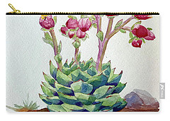 Flowering Succulent Carry-all Pouch