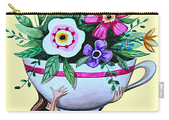 Flowers And Coffee Carry-all Pouch