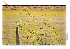 Flowers And Fence Carry-all Pouch