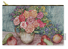 Flowers And Fruit Arrangement Carry-all Pouch