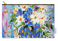 Flowers And Lemon Carry-all Pouch