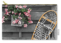Flowers And Snowshoe Carry-all Pouch