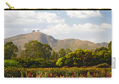 Flowers And Two Trees Carry-all Pouch