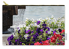 Flowers And Water Carry-all Pouch