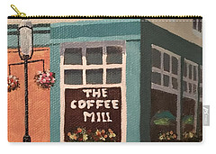 Flowers At Coffee Mill Mini Carry-all Pouch