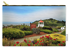 Carry-all Pouch featuring the photograph Flowers At The Trinidad Lighthouse by James Eddy