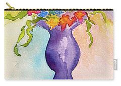 Carry-all Pouch featuring the painting Flowers For Bobbie by Beverley Harper Tinsley