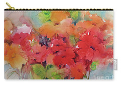 Carry-all Pouch featuring the painting Flowers For Peggy by Michelle Abrams