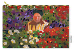 Carry-all Pouch featuring the painting Flowers For Sale by Deborah Boyd