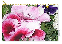 Carry-all Pouch featuring the photograph Flowers From The Heart by Jolanta Anna Karolska