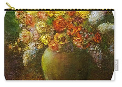Flowers I A Green Vase Carry-all Pouch