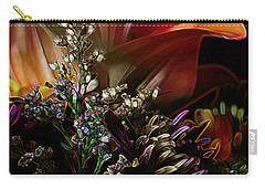 Carry-all Pouch featuring the digital art Flowers 2 by Stuart Turnbull
