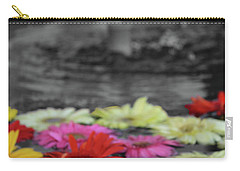 Flowers In Fountain Carry-all Pouch
