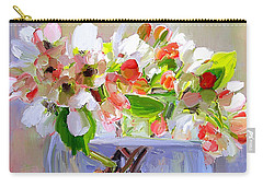 Flowers In Glass Bowl Carry-all Pouch