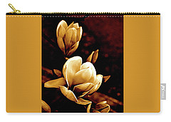 Flowers In Sepia  Carry-all Pouch