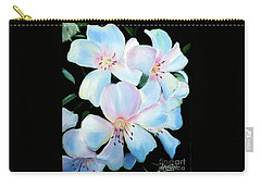 Flowers In Shades Of White Carry-all Pouch
