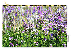 Carry-all Pouch featuring the photograph Flowers In The Field  by Lyle Crump