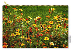 Flowers In The Fields Carry-all Pouch by Joseph Frank Baraba
