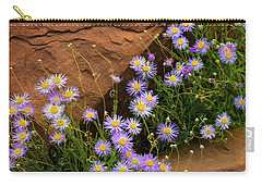 Flowers In The Rocks Carry-all Pouch by Darren White