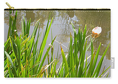 Carry-all Pouch featuring the painting Flowers In The Water by Esther Newman-Cohen