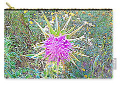 Carry-all Pouch featuring the mixed media Flowers by Lucia Sirna