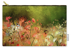 Carry-all Pouch featuring the digital art Flowers Of Corfu by Lois Bryan