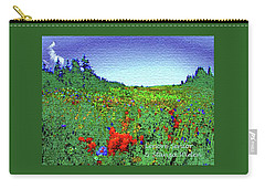 Carry-all Pouch featuring the photograph Flowers On Earth by Lenore Senior and Constance Widen
