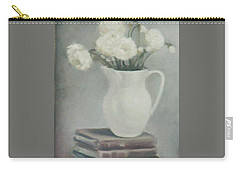 Flowers On Old Books Carry-all Pouch