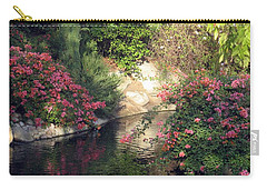 Flowers Over Pond Carry-all Pouch