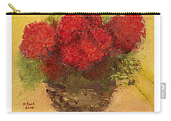 Flowers Red Carry-all Pouch by Marlene Book