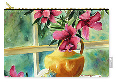 Flowers Shells And Lace Carry-all Pouch