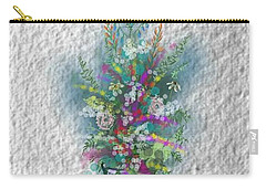 Carry-all Pouch featuring the digital art Flowers Study Two by Darren Cannell