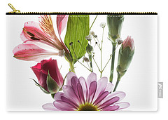 Flowers Transparent 1 Carry-all Pouch