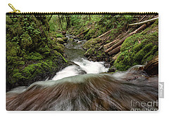 Flowing Downstream Waterfall Art By Kaylyn Franks Carry-all Pouch