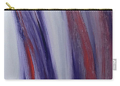 Red, White And Blue Flowing Energy Carry-all Pouch by Karen Nicholson