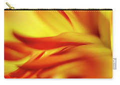 Flowing Floral Fire Carry-all Pouch by Tony Locke