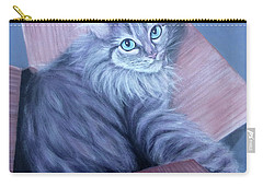 Fluff-in-the-box Carry-all Pouch by Susan DeLain