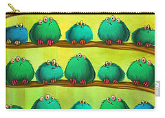 Fluff Rows Carry-all Pouch by Andy Catling