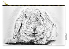 Fluffy Bunny Carry-all Pouch