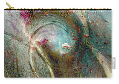 Carry-all Pouch featuring the digital art Flugufrelsarinn by Linda Sannuti