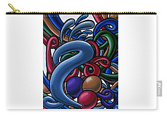 Carry-all Pouch featuring the painting Fluid 1 - Abstract Art Painting - Chromatic Fluid Art by Ai P Nilson