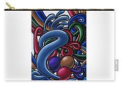 Fluid 1 - Abstract Art Painting - Chromatic Fluid Art Carry-all Pouch