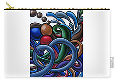 Carry-all Pouch featuring the painting Fluid 2 - Original Abstract Art Painting - Chromatic Fluid Art by Ai P Nilson