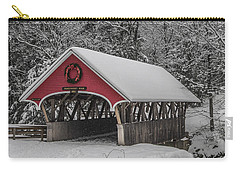 Flume Covered Bridge In Winter Carry-all Pouch