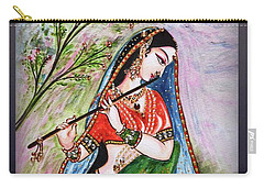 Flute Playing In - Krishna Devotion  Carry-all Pouch