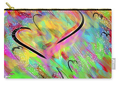 Fluttering Hearts Carry-all Pouch by Jason Nicholas
