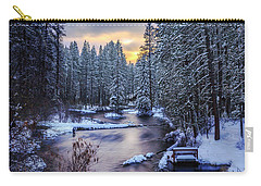 Carry-all Pouch featuring the photograph Fly Fisherman On The Metolius by Cat Connor
